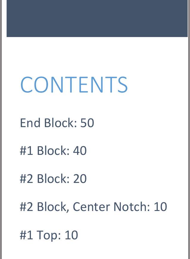 school kit 2 content list